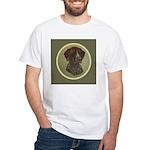 German Shorthair Head Study White T-Shirt