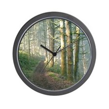 Nature Trail in the Morning Wall Clock