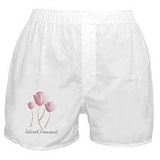 retired principal PINK TULIPS Boxer Shorts