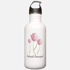 retired principal PINK Water Bottle