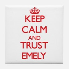 Keep Calm and TRUST Emely Tile Coaster