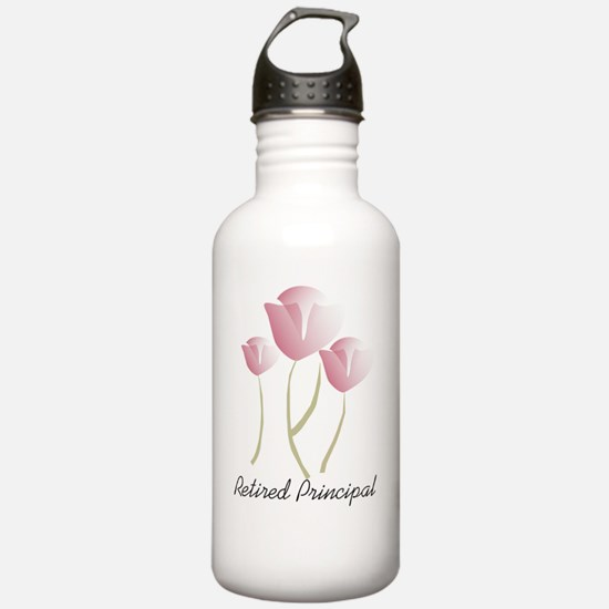 retired principal PINK Water Bottle
