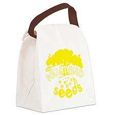 mustardseeds_transparent_yellow.g Canvas Lunch Bag
