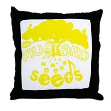 mustardseeds_transparent_yellow.gif Throw Pillow