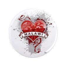 """heart2Malawi1 3.5"""" Button"""