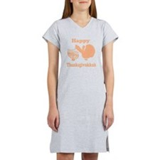 Happy Thanksukkah 3 peach Women's Nightshirt