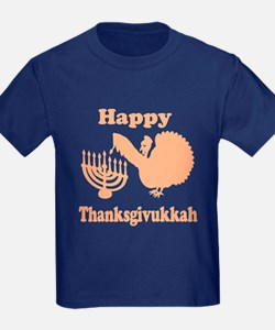Happy Thanksukkah 3 peach T-Shirt