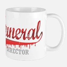 Funeral Director red for dark Mug