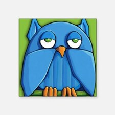 "Pillow case Aqua Owl green Square Sticker 3"" x 3"""