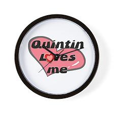quintin loves me  Wall Clock
