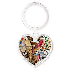 Crowded Ark Heart Keychain