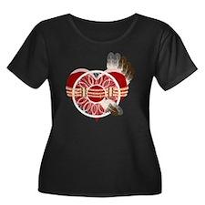 indian_g Women's Plus Size Dark Scoop Neck T-Shirt