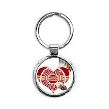 indian_girl Round Keychain
