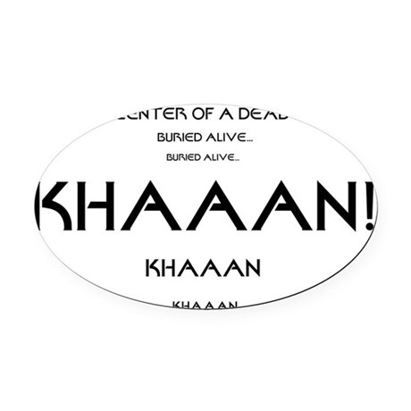 KHAAAN Oval Car Magnet