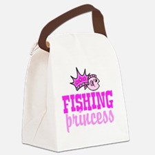 fishing princess Canvas Lunch Bag