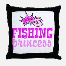 fishing princess Throw Pillow