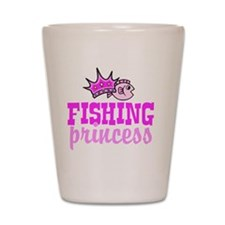 fishing princess Shot Glass