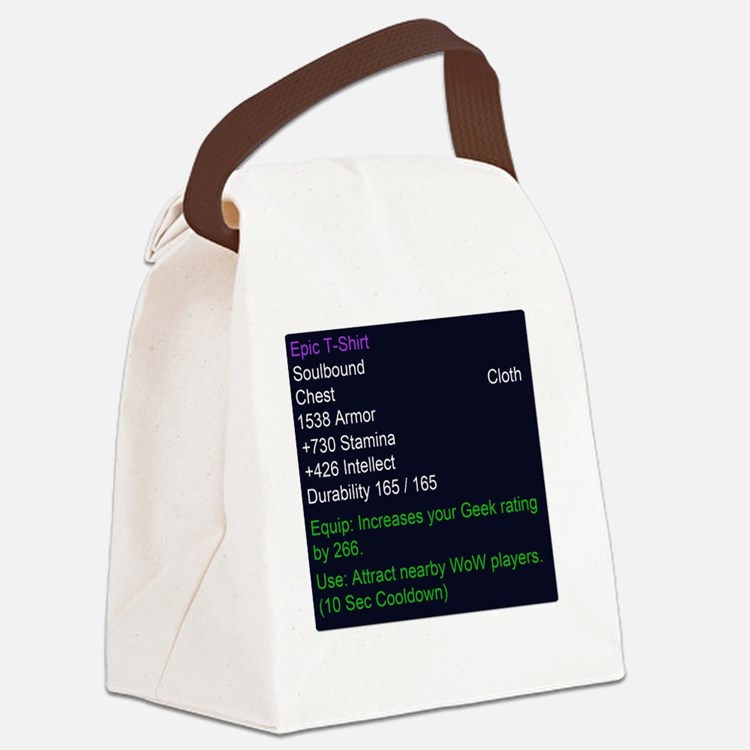 Epic T-shirt Canvas Lunch Bag