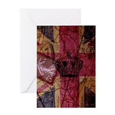 vintage jubilee  British Flag London Greeting Card