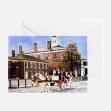 independence hall carriage copy Greeting Card