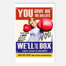 GIVE EM HELL Postcards (Package of 8)