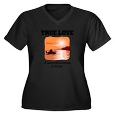 true love Women's Plus Size Dark V-Neck T-Shirt