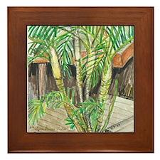 flipflop palms Framed Tile