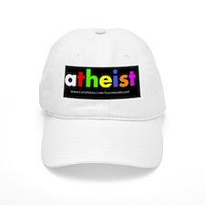 Atheist color oval Baseball Cap
