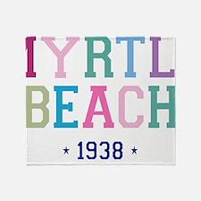 Myrtle Beach 1938 B Throw Blanket
