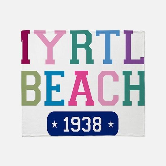 Myrtle Beach 1938 W Throw Blanket