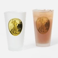 American Gold Eagle.Png Drinking Glass