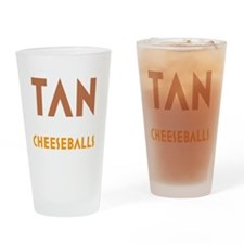 Tan-Orange-Black Drinking Glass