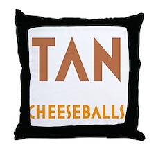 Tan-Orange-Black Throw Pillow
