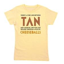 Tan-Orange-White Girl's Tee