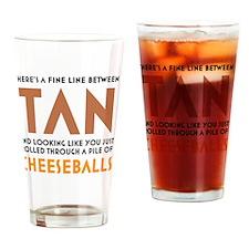 Tan-Orange-White Drinking Glass