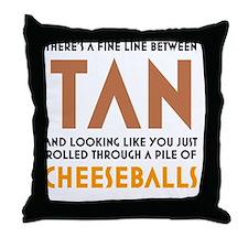 Tan-Orange-White Throw Pillow