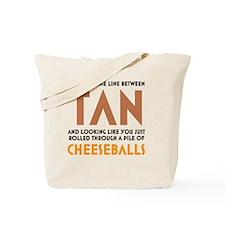Tan-Orange-White Tote Bag
