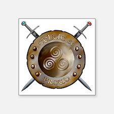"""CP Shield_and_sword_Logo Square Sticker 3"""" x 3"""""""