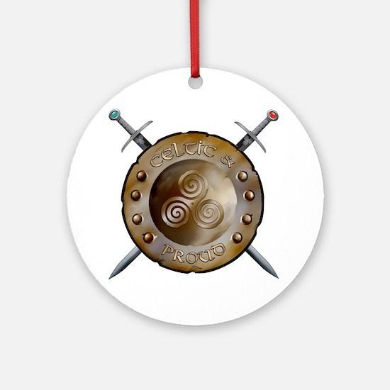 CP Shield_and_sword_Logo Round Ornament