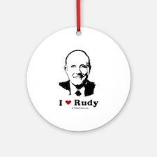 I Heart Rudy Ornament (Round)