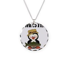 born to fish penguin Necklace