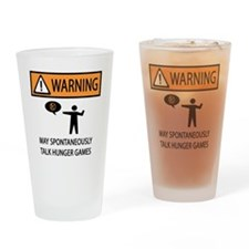 HUNGER GAMES WARNING Drinking Glass
