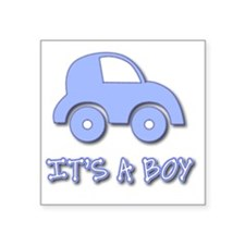 "Its a Boy - Baby Boy - Blue Square Sticker 3"" x 3"""