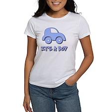 Its a Boy - Baby Boy - Blue Car Tee