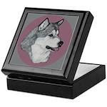 Gray Alaskan Malamute Keepsake Box
