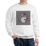 Gray Alaskan Malamute Sweatshirt