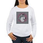 Gray Alaskan Malamute Women's Long Sleeve T-Shirt