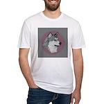 Gray Alaskan Malamute Fitted T-Shirt