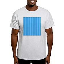Duvet Queen Aqua Owl stripes blue T-Shirt