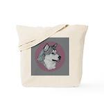 Gray Alaskan Malamute Tote Bag